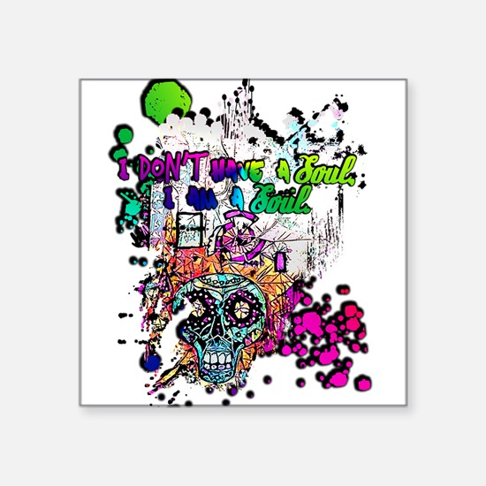 Sugar Skull Day of the Dead Artsy Original Sticker
