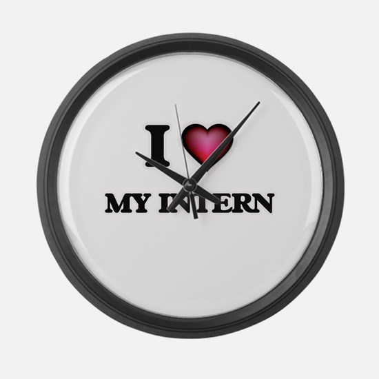 I Love My Intern Large Wall Clock