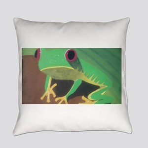 A Crimson View Frog Everyday Pillow
