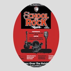 School of Rock Oval Ornament