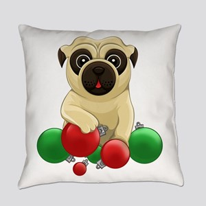 A Pug Christmas Everyday Pillow