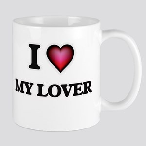 I Love My Lover Mugs