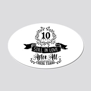 50th Anniversary 20x12 Oval Wall Decal