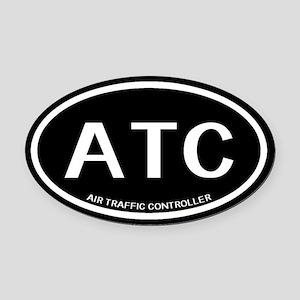 ATC: Air Traffic Controller (Black Oval Car Magnet