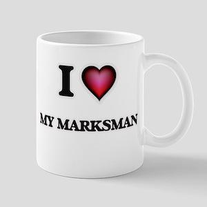 I Love My Marksman Mugs