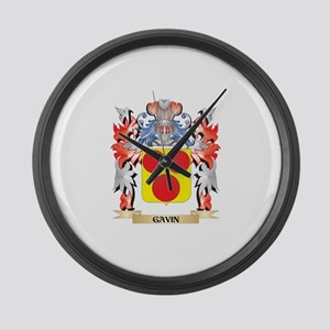 Gavin Coat of Arms - Family Crest Large Wall Clock