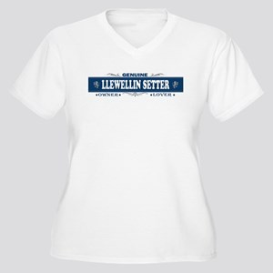 LLEWELLIN SETTER Womes Plus-Size V-Neck T-Shirt
