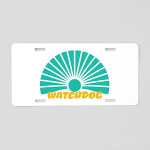 Watchdog Aluminum License Plate