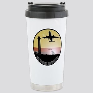 ATC: Air Traffic Control Tower & Plane Travel Mug