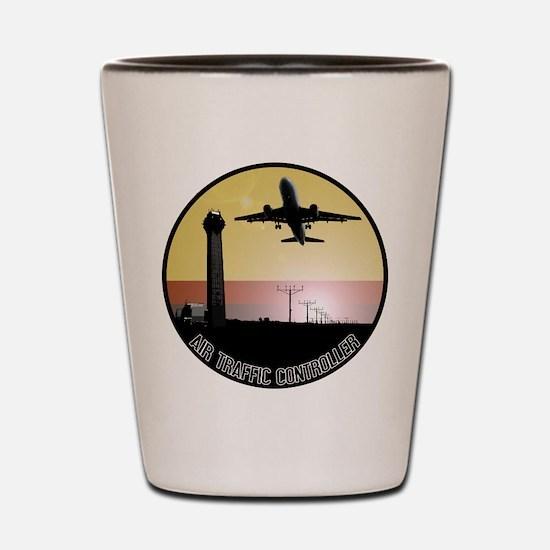 ATC: Air Traffic Control Tower & Plane Shot Glass