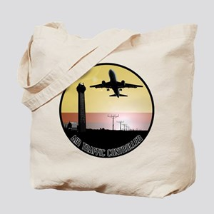 ATC: Air Traffic Control Tower & Plane Tote Bag