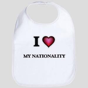I Love My Nationality Bib