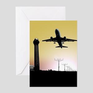 ATC: Air Traffic Control Tower & Plane Greeting Ca