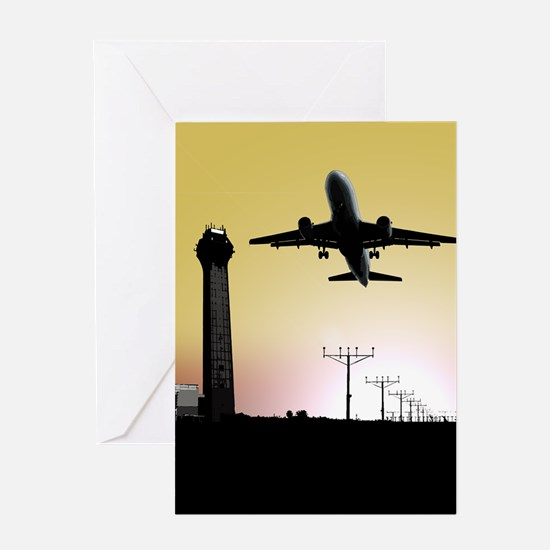 ATC: Air Traffic Control Tower & Plane Greeting Ca