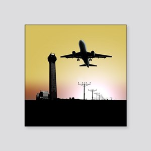 ATC: Air Traffic Control Tower & Plane Sticker