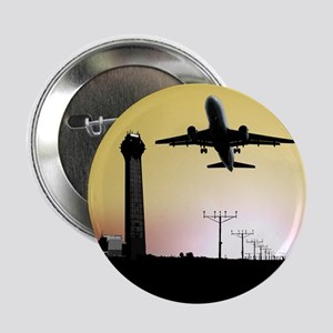 """ATC: Air Traffic Control Tower & Plane 2.25"""" Butto"""