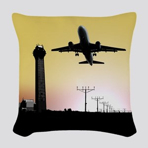 ATC: Air Traffic Control Tower & Plane Woven Throw