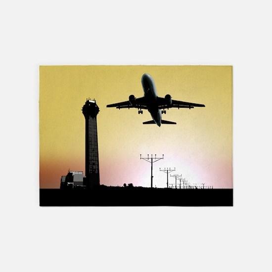 ATC: Air Traffic Control Tower & Plane 5'x7'Area R