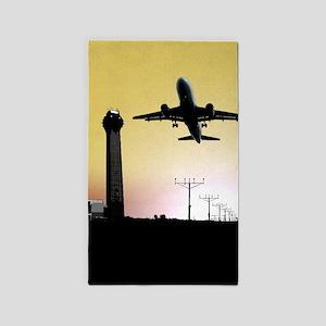 ATC: Air Traffic Control Tower & Plane Area Rug