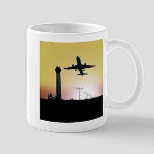 ATC: Air Traffic Control Tower & Plane Mugs