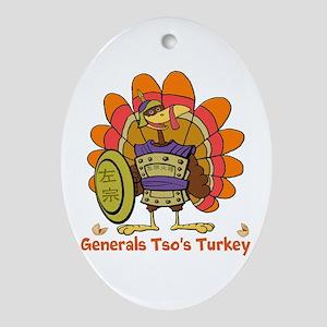 General Tsos Turkey Oval Ornament