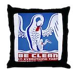 Baby Hygiene Vintage Throw Pillow