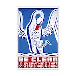 Baby Hygiene Vintage Mini Poster Print