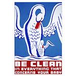 Baby Hygiene Vintage Large Poster