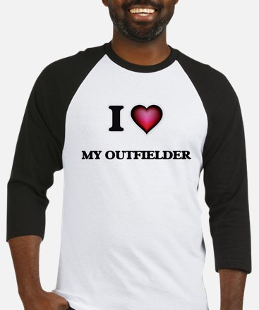 I Love My Outfielder Baseball Jersey