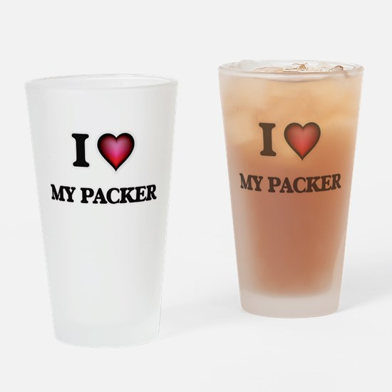 I Love My Packer Drinking Glass