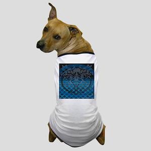 Blue Tech Maze Dog T-Shirt