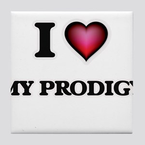 I Love My Prodigy Tile Coaster