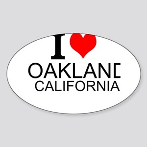 I Love Oakland, California Sticker