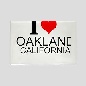 I Love Oakland, California Magnets