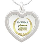 IAAN Circle Silver Heart Necklace
