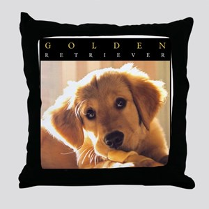 GOLDEN_PUPPY_FRAME Throw Pillow