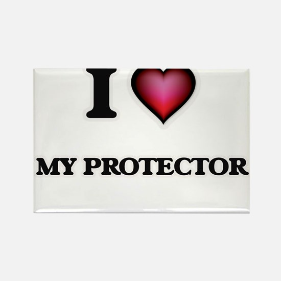 I Love My Protector Magnets
