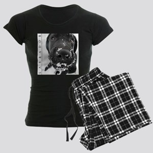 BLACK_LAB_SNOW_FRAME Women's Dark Pajamas