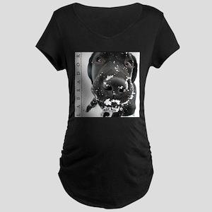 BLACK_LAB_SNOW_FRAME Maternity T-Shirt