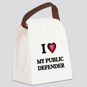 I Love My Public Defender Canvas Lunch Bag