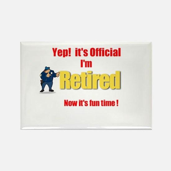 Cop Retirement. :-) Rectangle Magnet