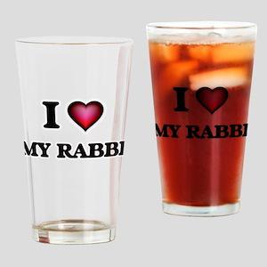 I Love My Rabbi Drinking Glass