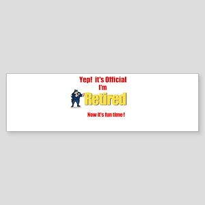 Cop Retirement. :-) Bumper Sticker