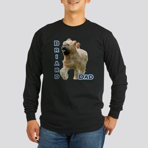 Briard Dad4 Long Sleeve Dark T-Shirt