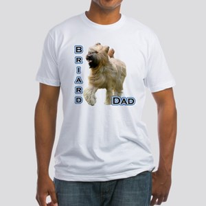 Briard Dad4 Fitted T-Shirt
