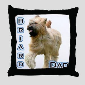 Briard Dad4 Throw Pillow