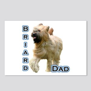 Briard Dad4 Postcards (Package of 8)