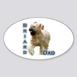 Briard Dad4 Oval Sticker