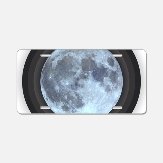 Moon w Rings Aluminum License Plate