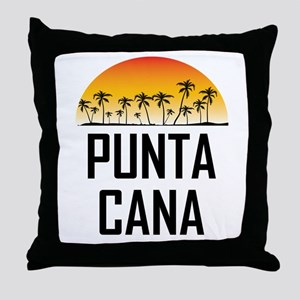 Punta Cana Sunset Throw Pillow